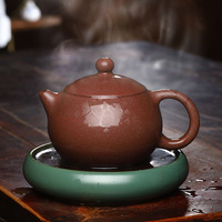 3008 Yixing Clay Teapot Raw Ore Peach Flower Mud Xi Shi Smoke Sweat Yixing Clay Teapot Tea Set 320 Ml
