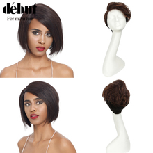 Debut Short Human Hair Wigs Lace Front Human Hair Wigs 100% Remy Indian Hair Wigs U Part Lace Wigs For Mom Hair Short Wigs