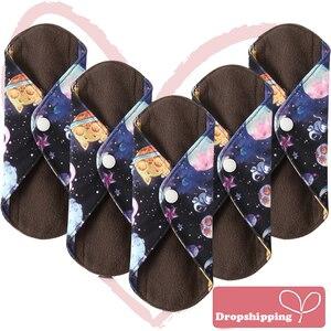 Ohbabyka S M L Bamboo Charcoal Mama Reusable Menstrual Cloth Sanitary Pads Napkin Waterproof Panty Liners Women Feminine Hygiene(China)