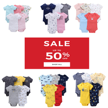 ベビー半袖oネックスーツの少年少女のボディ服幼児服ユニセックス新生児ボディスーツ2020春夏衣装