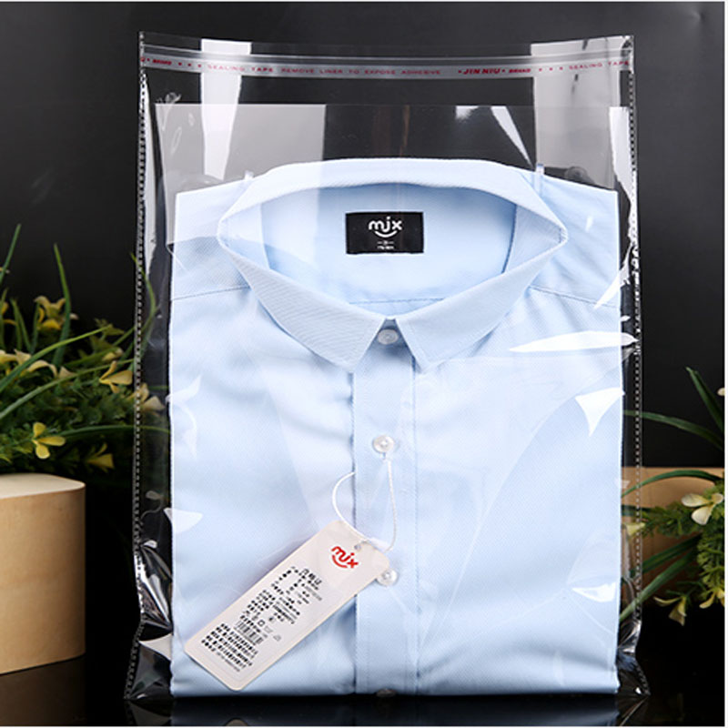 200pcs/lot OPP Adhesive Self-adhesive Bag Clothing Bag Plastic Bag Shirt Transparent Packaging Bag Wholesale
