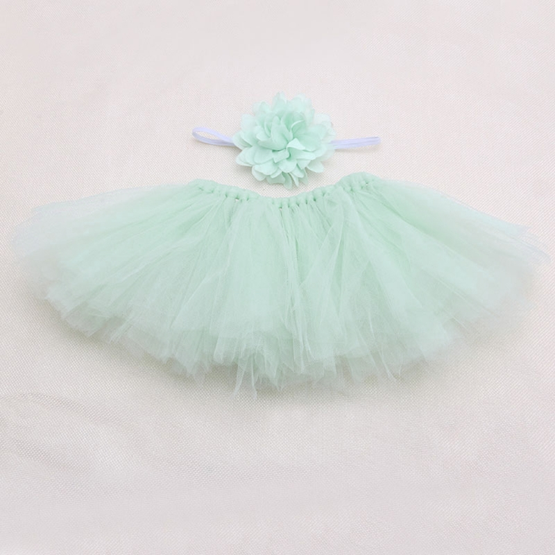 Милая юбка пачка для новорожденных и девочек повязка на голову