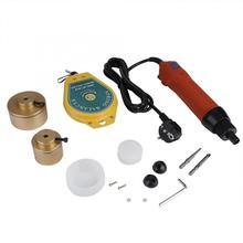 Полуавтоматическая ручная машина для укупорки и укупорки резьбы 220 В портативная электрическая бутылка укупорочная машина