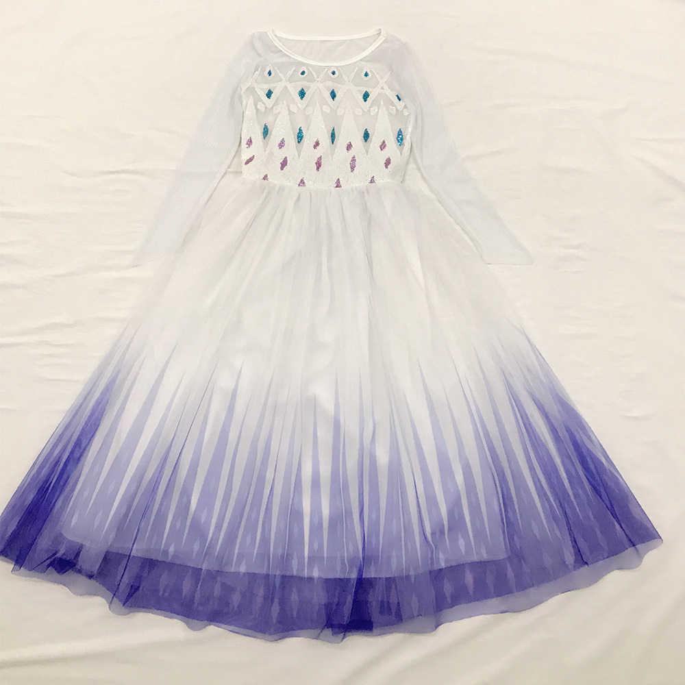 雪の女王 2 白女の子アンナエルザドレスハロウィン衣装子供クリスマス子供ドレス幼児 Chrismas 子供の休日ドレス