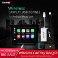 Carlinkit Drahtlose CarPlay Dongle/Android Auto für Android Navigation Player Touch Screen mit AirPlay (Schwarz Farbe)-in TV-Receiver für Auto aus Kraftfahrzeuge und Motorräder bei