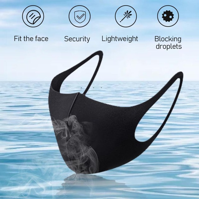 Unisex Dust Mask Breathable Sponge Face Mask Reusable Anti Pollution Face Shield Wind Proof Mouth Cover Proof Flu Face Masks 2