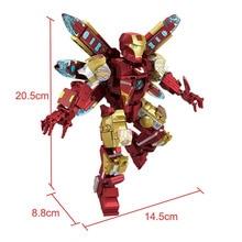 2019 Super Heroes legoinglys Iron Man Mech Warrior MK85 Robot Thanos Thor Figures Building Blocks Bricks Toys For Children Gifts