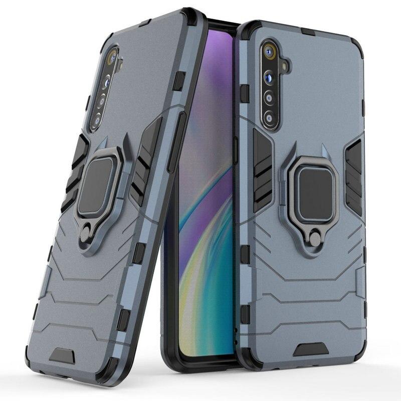 Für Realme XT 3D Ring Rüstung Fall für Realme XT für Realme X2 für Realme X2 Pro Auto Halter Telefon zurück Abdeckung Fall