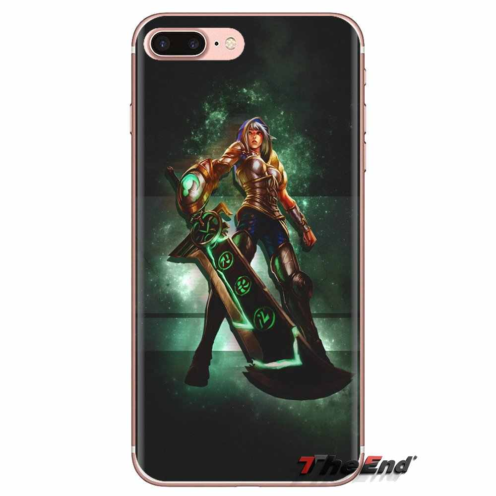 League of legends yasuo riven ballingschap TPU Cover Voor HTC U11 Een M7 M8 A9 M9 M10 E9 Desire 630 530 626 628 816 820 Motorola G G2 G3