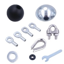 Pulley Home Gym Equipment Replacement Stopper Ball for Cable Gyms Steel Wire Accessories Joints Metal Limit Ball Hollow Screw