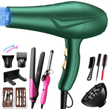 Hair dryer High-power blue light negative ion cold and hot air mute hair dryer for household hair salon hair dryers household barber shop high power salons professional negative ion hot and cold win