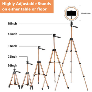 Image 5 - 10 Inch Selfie Ring Licht Met 50 Inch Statief Stand & Telefoon Houder Voor Make Live Stream, led Camera Ring Light Met Afstandsbediening Shu
