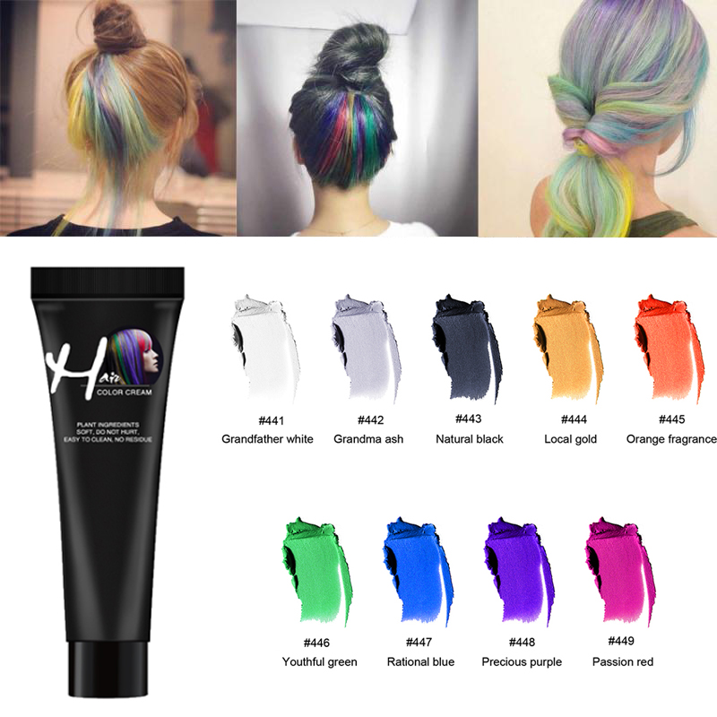 Zation Professional Hair Color Wax Long Lasting Hair Dye  Not Hurt Hair Fast One Time Hair Wax Grandma Grey Color Hair Color