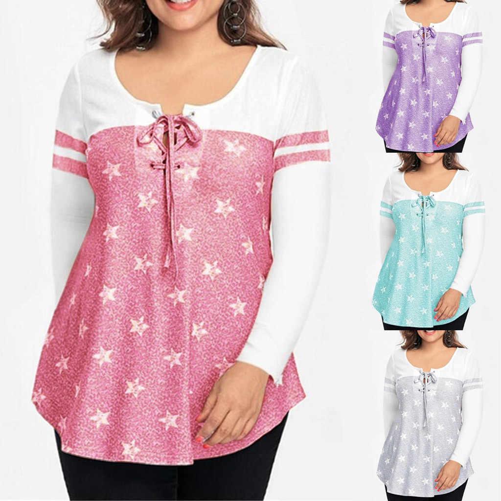 Nueva Camiseta Mujer Banda Estrella Impresa Manga Larga Suelta Casual Tallas Grandes Tops Poleras Haut Femme Camiseta Mujer Top T Camisa Camisetas Aliexpress
