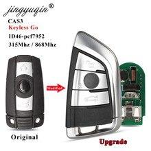 Jingyuqin CAS3-llave remota inteligente sin llave, para BMW Serie 3/5/6, X5, X6, 3 botones, 315MHz/868Mhz, PCF7952