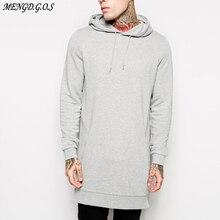 Jogger streetwear Sudadera con capucha para hombre, abrigo largo informal de hip hop, moda de otoño e invierno, ropa de algodón puro para hombre