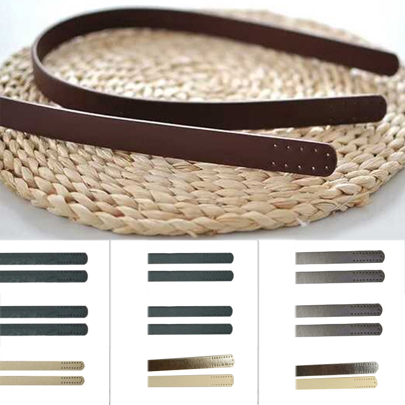 1 Pair Women PU Leather Purse Strap Handbag Handle Replacement Shoulder Handbag DIY Solid Color Sewing Strap Bag Accessories