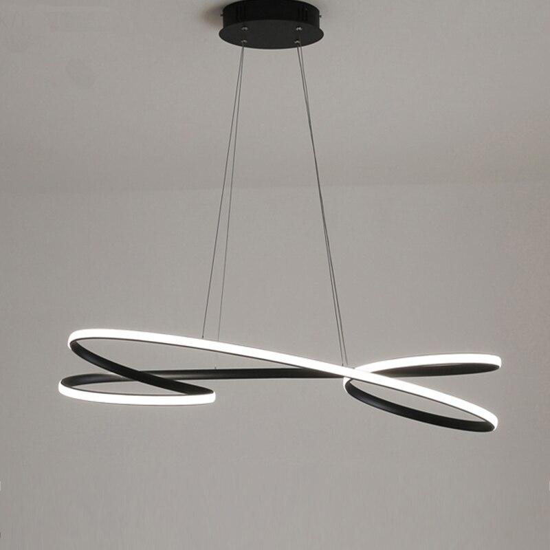 Современный светодиодный подвесной светильник светильники для столовой Гостиная Кухня бар магазин белого золота домашний декор Освещение...