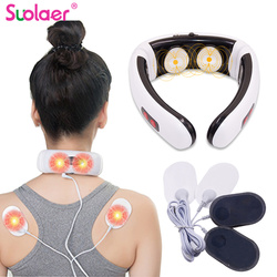 Droshipping 3D Electric Pulse Smart Back And Neck Massager Far Infrared Heating Body Pain Relief Tool Healthcare Relaxation