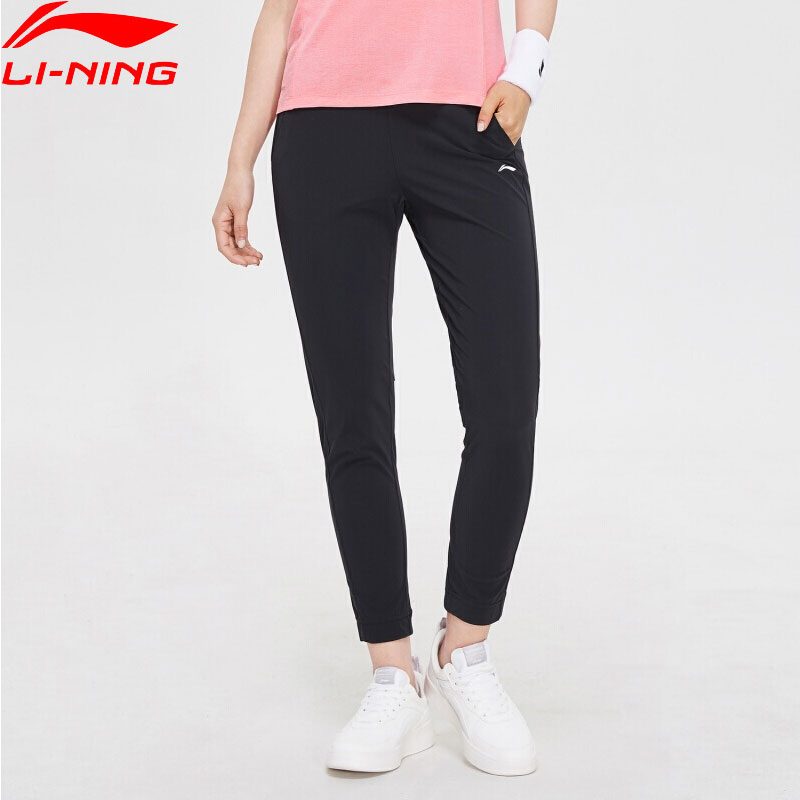 Li-Ning Women Training Series Knit Pants Regular Fit 79% Nylon 21% Spandex LiNing Li Ning Comfort Sports Trousers AKYP006 WKY219