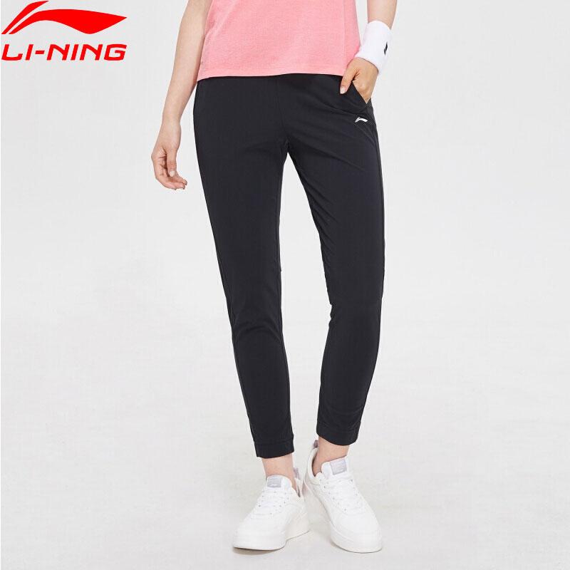 Li-Ning Women Training Series Knit Pants Regular Fit 79% Nylon 21% Spandex LiNing Li Ning Comfort Sports Trousers AKYP006 WKY219