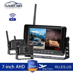 AHD wysokiej rozdzielczości AHD bezprzewodowy Monitor samochodowy DVR 7