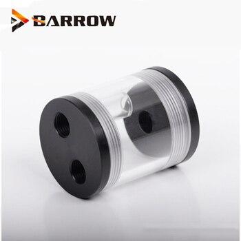 Tanque cilíndrico de agua de carretilla para MIni refrigeración de gabinete, L50-60 de depósito transparente de 60MM de longitud y 50MM de diámetro