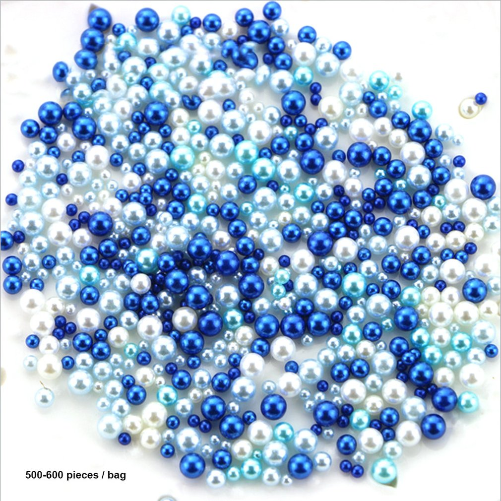 2020Resin Imitation Pearl DIY Particles Accessories Slime Balls Small Tiny Foam Beads For Floam Filler For DIY Supplies