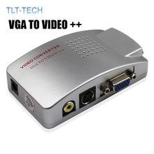 Vga к ТВ av rca сигнал композитный адаптер конвертер видео переключатель
