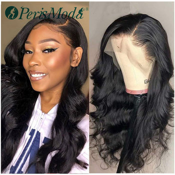 Synthetic Wigs for Black Women Loose Wave Natural Density Long Black Wigs PerisModa Heat Resistant Synthetic Lace Front Wigs 180% density heat resistant fiber syntehtilace lace front wig body wave black hair synthetic wigs for black women free shipping
