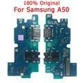 Оригинальная Гибкая плата для Samsung A50 зарядный порт для платы зарядного устройства 50 USB разъем PCB разъем запасные части