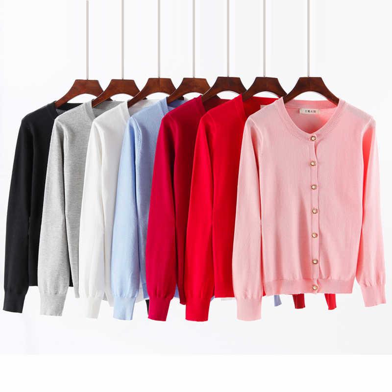 봄 가을 스웨터 여성 카디건 니트 플러스 사이즈 스웨터 코트 여성 캐주얼 o-넥 여성 카디건 탑스 4XL 5XL