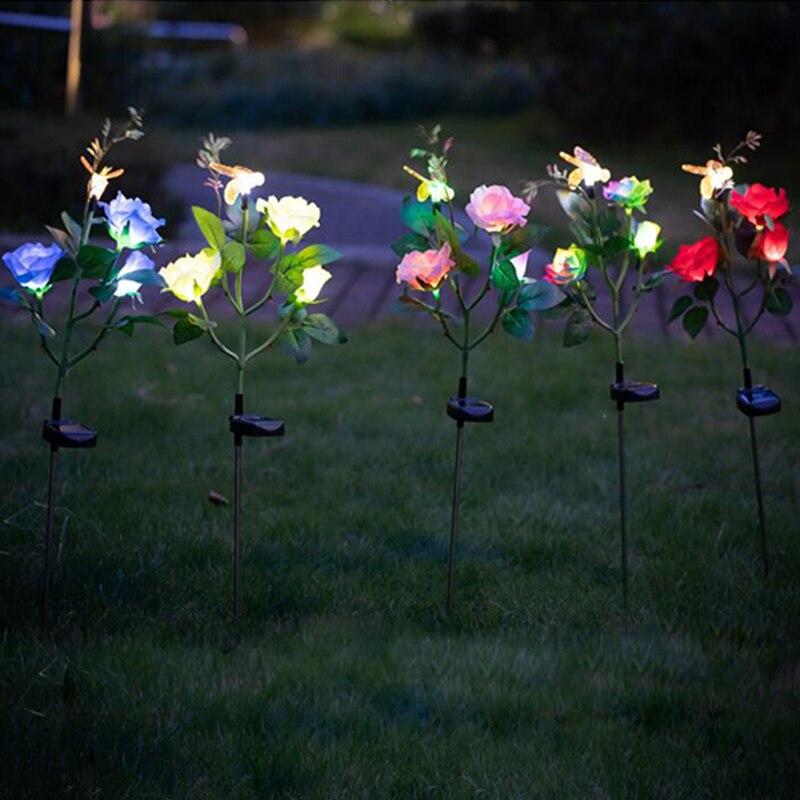 solar lâmpada para quintal caminho ao ar