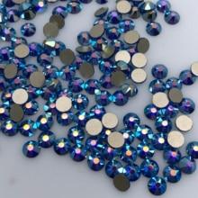 1440 stücke/720 stücke Verpackung Neue Konfrontiert (8 große + 8 kleine) ss20 (4,8 5,0mm) Capri Blue AB farbe Nail art Kleber Auf Keine hotfix Strass