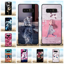 For Coque Samsung Galaxy Note 8 Case Soft Silicone Luxury Back Cover 3D Cute Cat Bag For Samsung Note 8 Note8 6.32'' Phone Cases