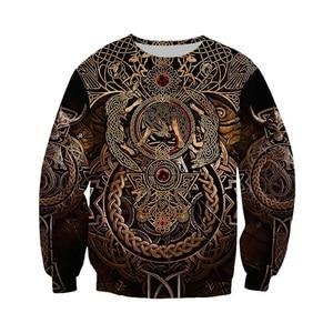 Image 2 - Liumaohua mais recente moda viking guerreiro tatuagem 3d impresso camisas casuais impressão 3d hoodies/moletom/zíper homem mulher topos 005