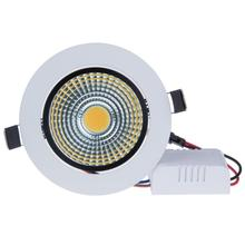1PCS Super Bright Recessed LED Dimmable Downlight COB 5W 12W Spot light decoration Ceiling Lamp AC110V AC220V