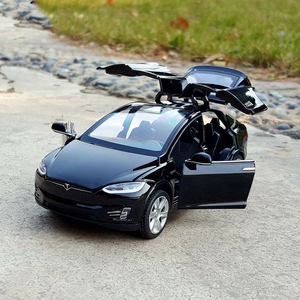 Free Shipping New1:32 Tesla MODEL X MODEL3 Alloy Car Model Diecasts & Toy Vehicles Toy Cars Kid Toys For Children Gifts Boy Toy