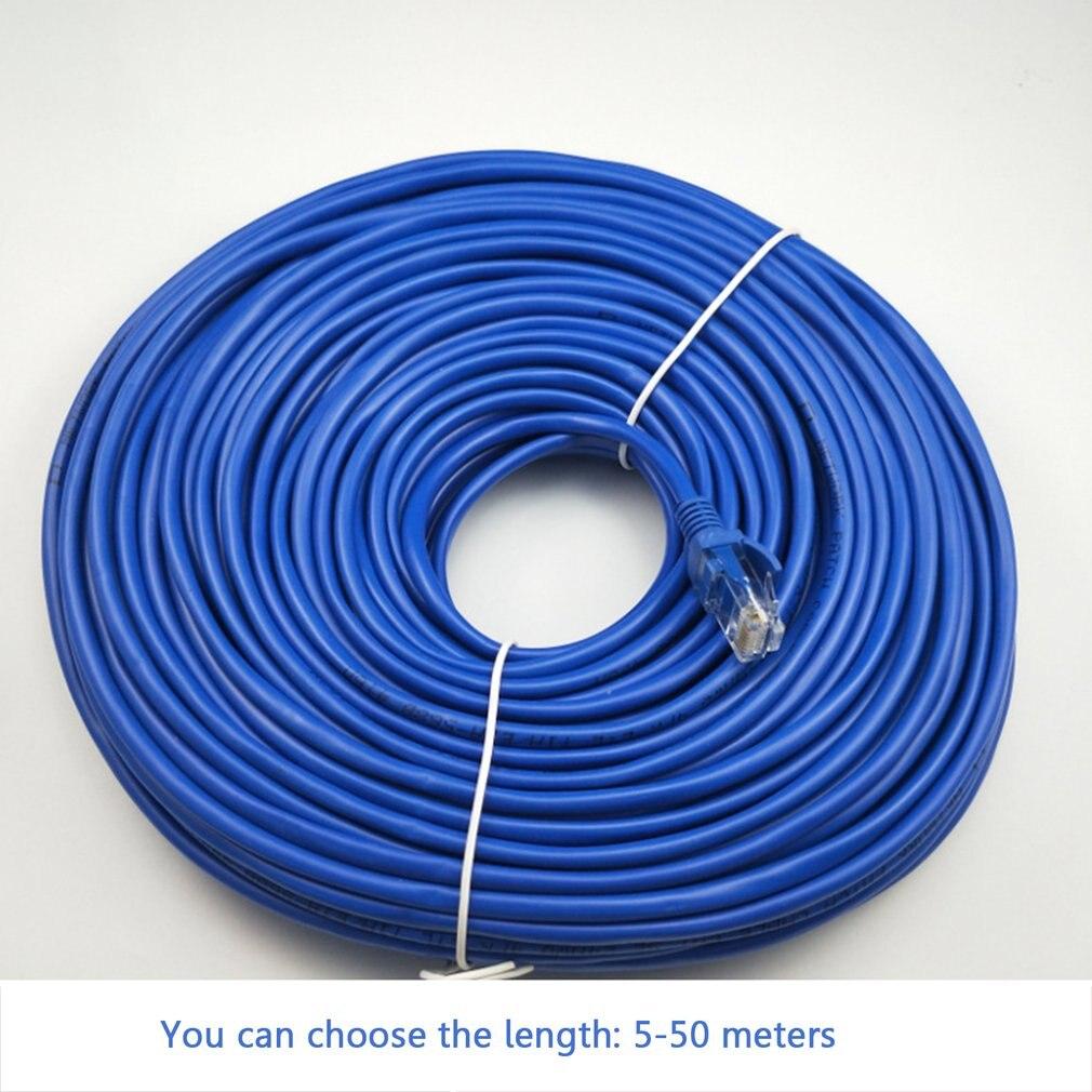 5/10/15/20/25/30/50CM CAT5 100M RJ45 Ethernet Cables Connector Ethernet Internet Network Cable Cord Wire Line Blue Rj 45 Lan