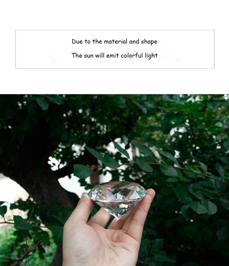 80mm lago azul vidro diamante decoração de
