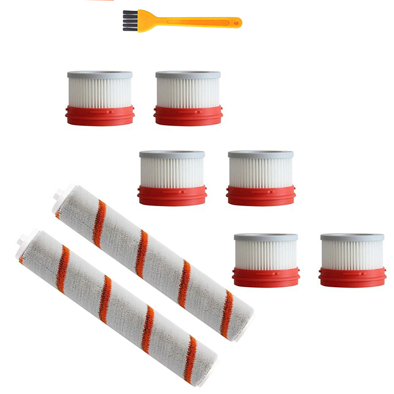 9Pcs HEPA Filter for Xiaomi Dreame V9 Household Wireless Handheld Vacuum Cleaner Accessories Hepa Filter Roller Brush Parts Kit