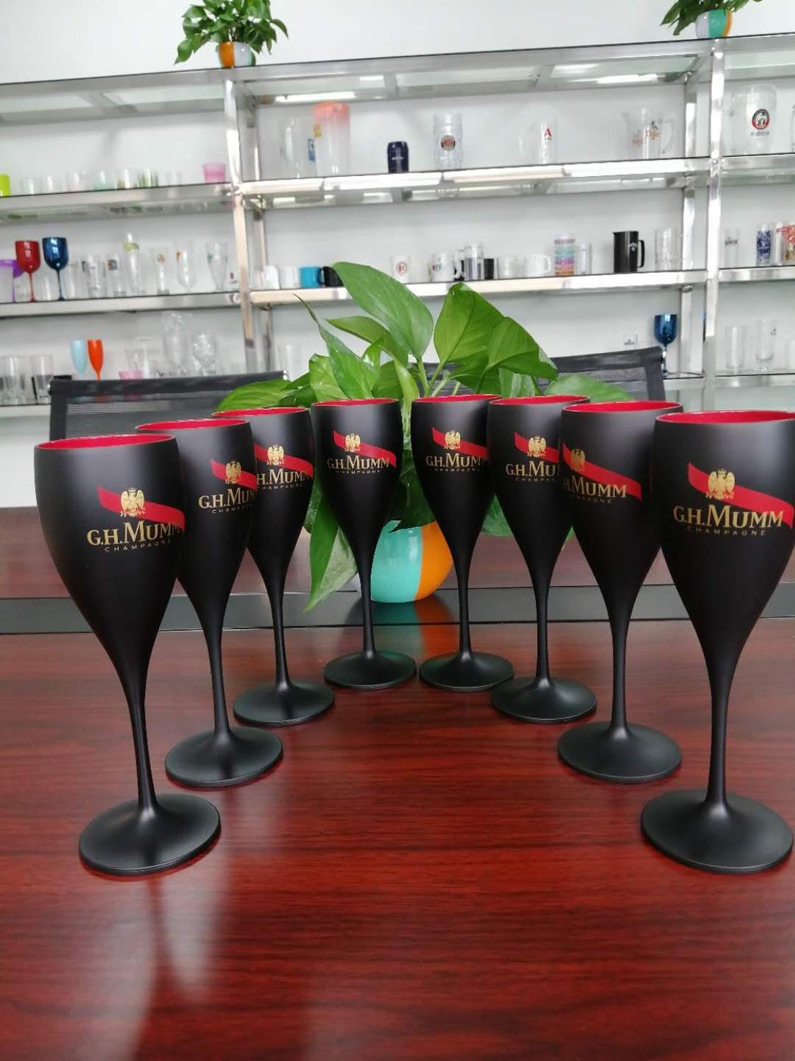 Factory wholesale plastic wine glasses PS acrylic PC plastic champagne glasses party glasses can be customized LOGO