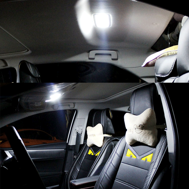 9pcs White Canbus LED Interior Light Map Dome Bulbs Kit Fit For 2015 2016 2017 Chrysler 200 Reading Ceiling TrunkLicense Lamp 5