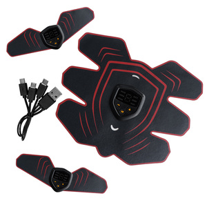 Image 1 - YOUKE Estimulador muscular eléctrico inteligente Unisex, 9 archivos, estimulador muscular Abdominal EMS, masajeador de Estimulador muscular Abdominal