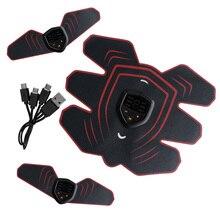 Youke estimulador muscular elétrico inteligente, 9 lixas, display led, estimulador muscular abdominal ems, saúde, massageador unissex
