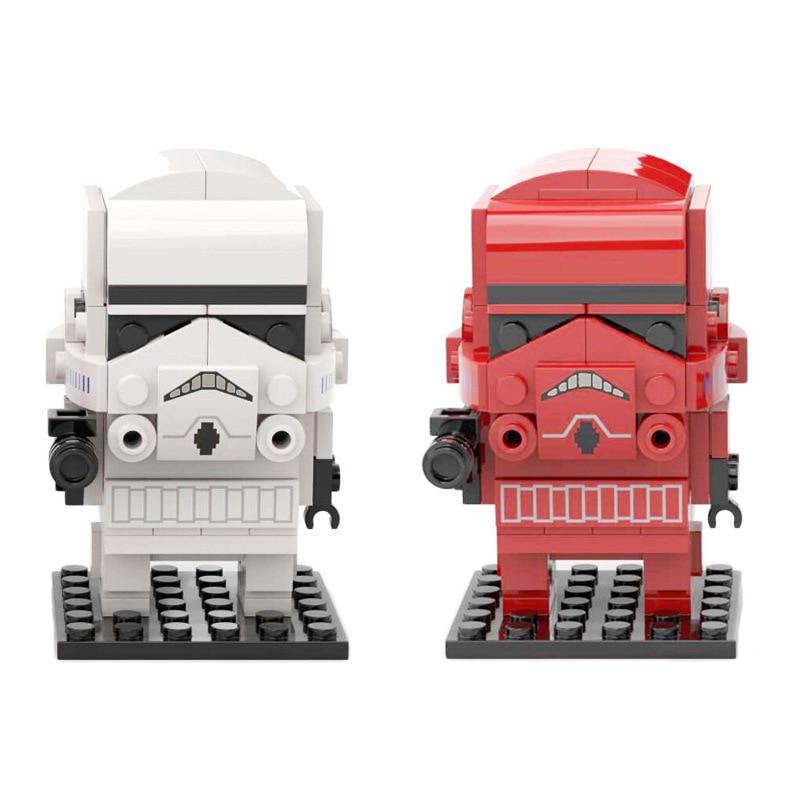 Brickheadz Star Stormtroopsedly Building Blocks Mini Figures Cute Bricks Headz Toys For Collection