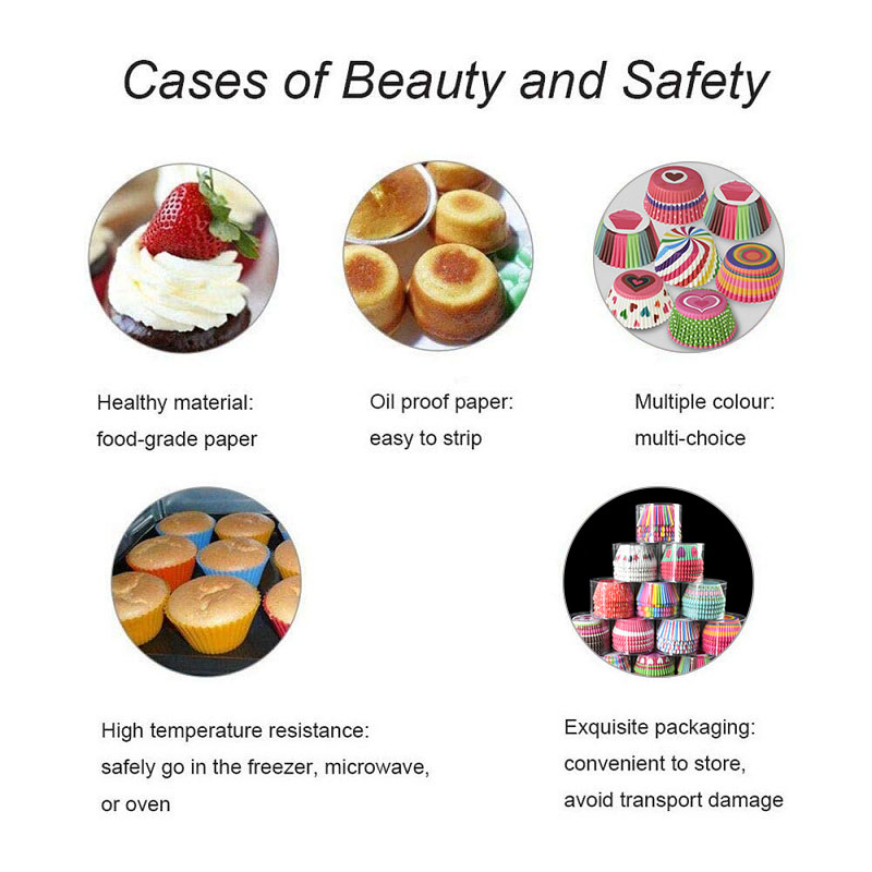 100Pcs Muffin Cupcake Paper Cups Cupcake Liner Baking Muffin Box Cup Case Party Tray Cake Decorating Tools Birthday Party Decor