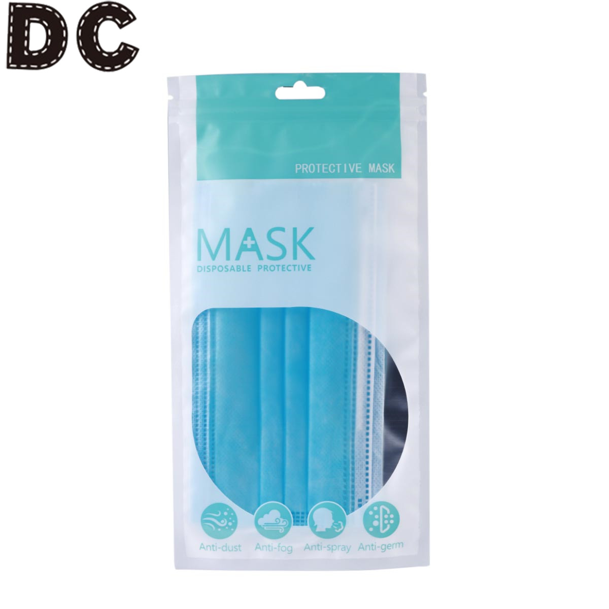 DC 10pcs Disposable Mask Packaging Bag Disposable Face Mask Packaging Bags  Transparent Independent One-time Storage Bag