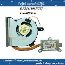 Alta qualidade CN-0R9JV6 para dell insprion 3458 3558 portátil cpu ventilador de refrigeração r9jv6 dfs541105fc0t 100% testado