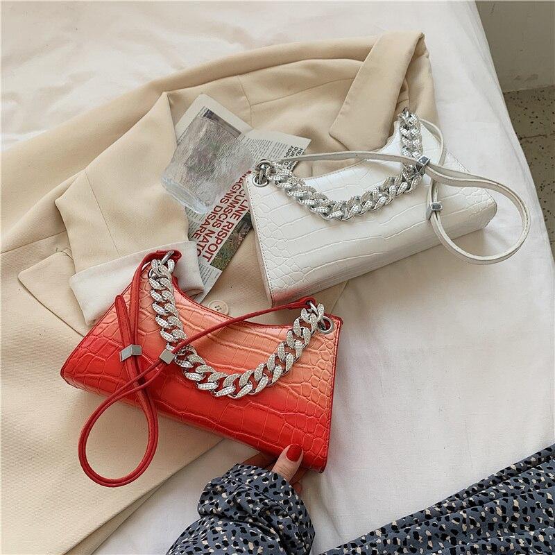 alça superior sacos moda cadeias grossas bolsas e bolsas